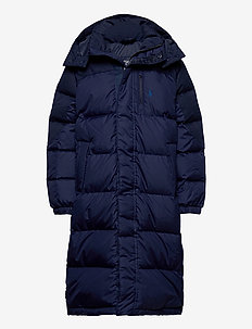 Water-Resistant Down Coat - puffer & padded - cruise navy