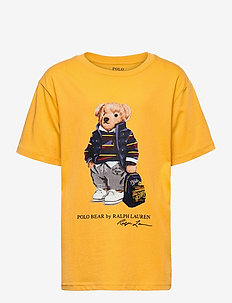 Polo Bear Cotton Jersey Tee - krótki rękaw - gold bugle