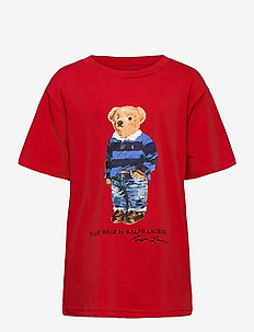 Polo Bear Cotton Jersey Tee - krótki rękaw - rl 2000 red