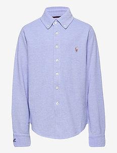 Knit Cotton Oxford Shirt - skjorter - harbor island blu
