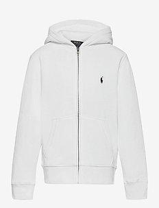 Cotton-Blend-Fleece Hoodie - pulls à capuche - white