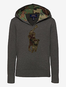 Big Pony Cotton Hooded Sweater - pulls à capuche - boulder grey