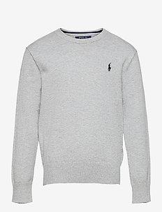 Cotton Crewneck Sweater - pullover - andover heather