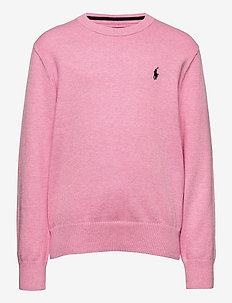 Cotton Crewneck Sweater - habits tricotés - hampton pink heat