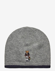 Backpack Bear Merino Hat - hatut - league heather