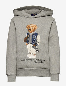 Football Bear Fleece Hoodie - ANDOVER HEATHER