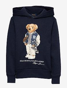 Football Bear Fleece Hoodie - newport navy
