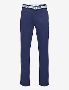 Belted Super Skinny Stretch Chino Pant - trousers - newport navy
