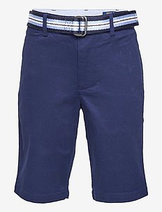Slim Fit Belted Chino Short - shorts - newport navy