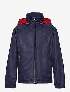 Water-Resistant Packable Hooded Jacket - takit - newport navy/ rl2