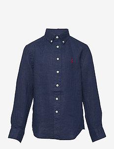 Linen Shirt - overhemden - newport navy