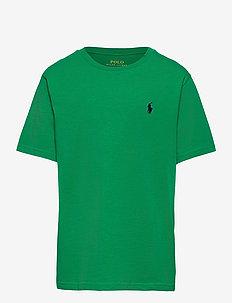 Cotton Jersey Crewneck Tee - kurzärmelige - billiard green