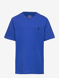 Cotton Jersey Crewneck Tee - short-sleeved - sapphire star