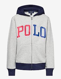 Logo Fleece Full-Zip Hoodie - pulls à capuche - andover heather