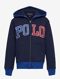 Logo Fleece Full-Zip Hoodie - pulls à capuche - newport navy