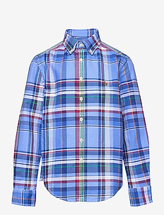 Plaid Cotton Oxford Shirt - overhemden - 5153a blue/red mu