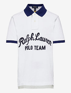 Polo Team Cotton Mesh Polo Shirt - polos - white multi