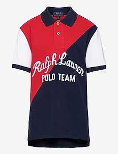 Polo Team Cotton Mesh Polo Shirt - polos - rl 2000 red multi
