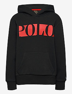 Logo Double-Knit Hoodie - pulls à capuche - polo black