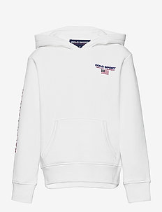 Polo Sport Fleece Hoodie - hoodies - white