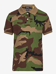 20/1 MESH-CUSTOM POLO-TP-KNT - short-sleeved polos - surplus camo