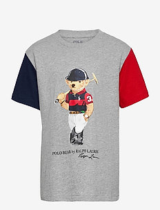 Polo Bear Cotton Jersey Tee - À manches courtes - andover heather m