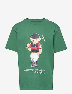 Polo Bear Cotton Jersey Tee - short-sleeved - stuart green