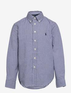 Gingham Cotton Poplin Shirt - shirts - 4656a blue/white