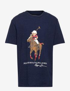 Polo Bear & Big Pony Cotton Tee - kurzärmelige - french navy