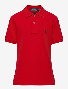 Custom Fit Cotton Mesh Polo - polo shirts - rl 2000 red