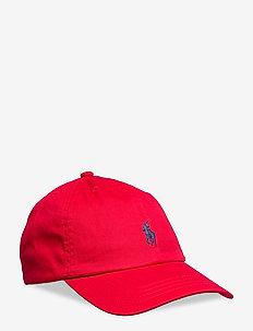 Cotton Chino Baseball Cap - luer & caps - rl 2000 red