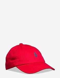Cotton Chino Baseball Cap - caps - rl 2000 red