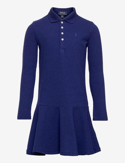 Stretch Cotton Mesh Polo Dress - dresses - fall royal
