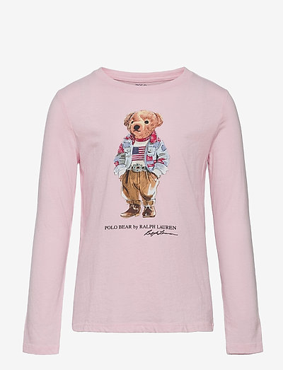 Polo Bear Cotton Jersey Tee - long-sleeved t-shirts - hint of pink