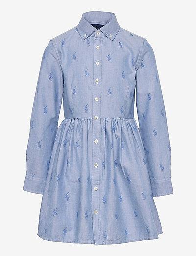 Pony Cotton Shirtdress - dresses - oxford blue