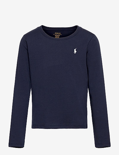 Cotton Jersey Long-Sleeve Tee - long-sleeved t-shirts - french navy/white