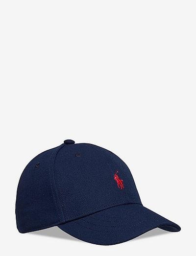 High-Crown Twill Ball Cap - huer & kasketter - newport navy