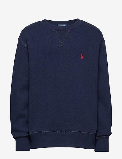 Cotton-Blend-Fleece Sweatshirt - sweatshirts - cruise navy