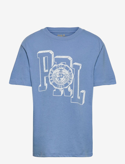 Cotton Jersey Graphic Tee - short-sleeved - blue sky