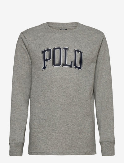 Logo Cotton Jersey Tee - long-sleeved t-shirts - andover heather