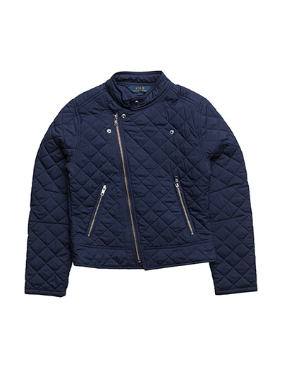 Quilted Moto Jacket - NEWPORT NAVY