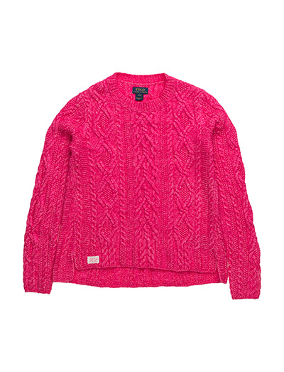 ARAN CREWNCK-TOPS-SWEATER - DESERT PINK