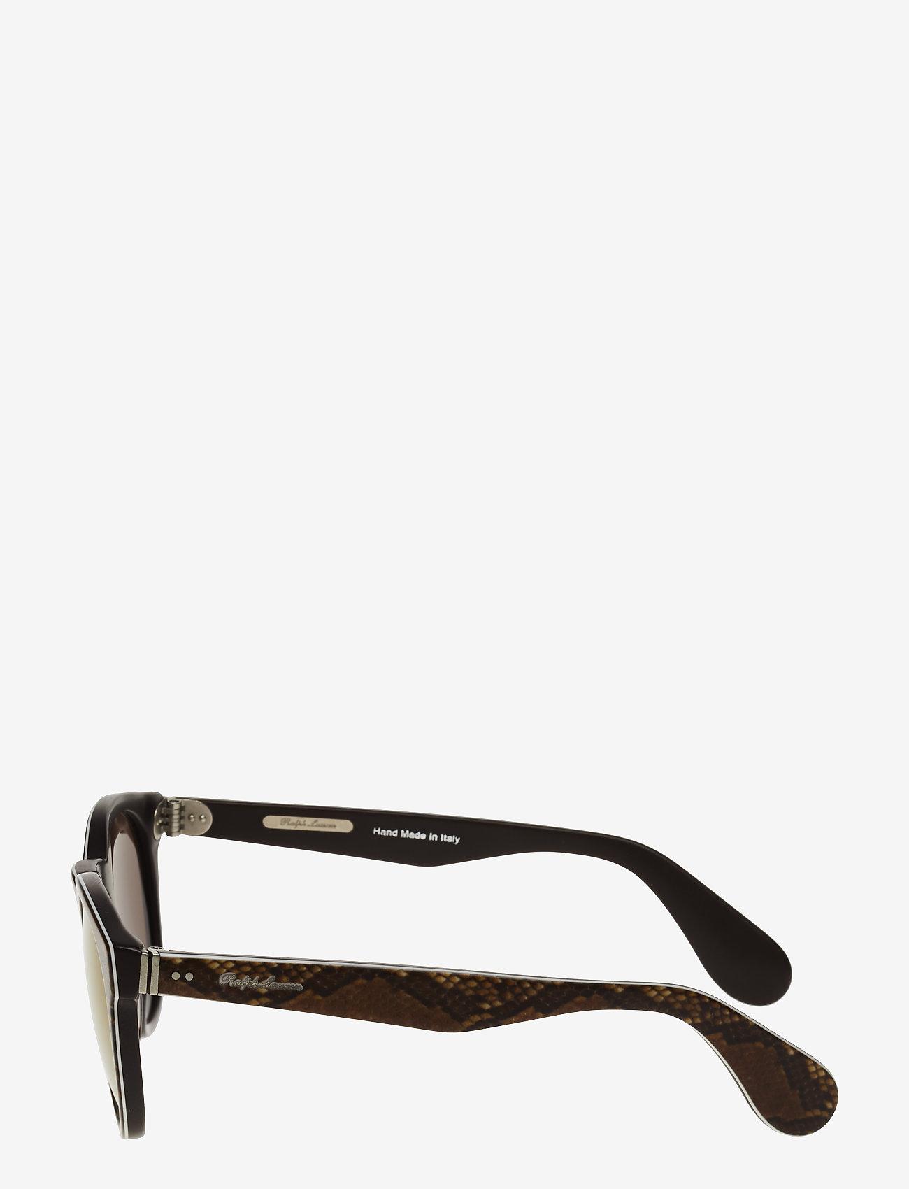 Ralph Ralph Lauren Sunglasses HERITAGE - Okulary przeciwsłoneczne TOP PYTHON ON BROWN VINTAGE - Akcesoria