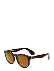 Ralph Ralph Lauren Sunglasses - HERITAGE - rond model - top python on brown vintage - 2