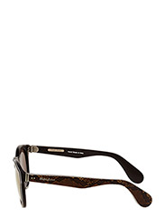 Ralph Ralph Lauren Sunglasses - HERITAGE - rond model - top python on brown vintage - 4