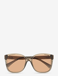 Sunglasses - neliökehys - gradient brown
