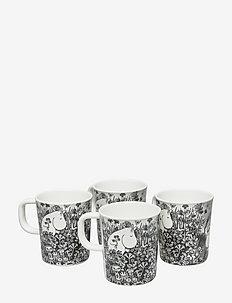 Mumin Graphic, cups, 4 pcs - tasses et mugs - white