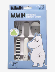 Moomin Water and bath, cuttlery, 3-part - aterimet - white