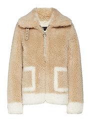 Teddy jacket - HONEY CAMEL