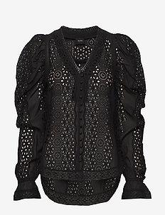 Riva Shirt - pitkähihaiset puserot - black